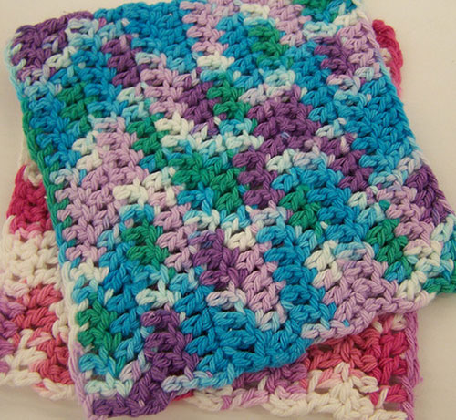 Crocheting Dishcloths For Beginners : Easy Double Crochet Dishcloth Easy Crochet