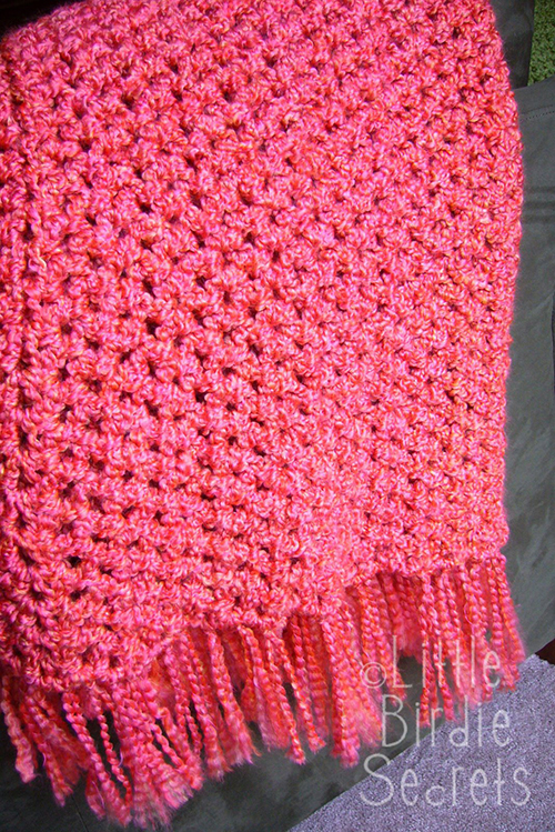 crochet blanket pattern Quick and Simple Crocheted Afghan
