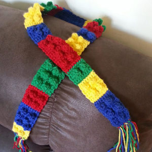 Toddler Lego Block Scarf Pattern