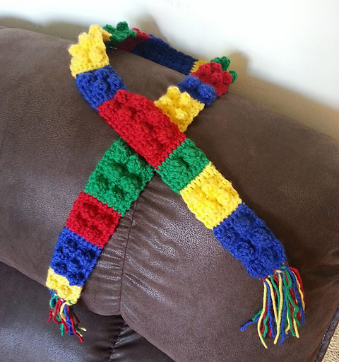 Toddler Lego Block Scarf Pattern Easy Crochet