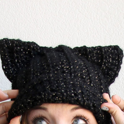 Black Cat Hat Pattern