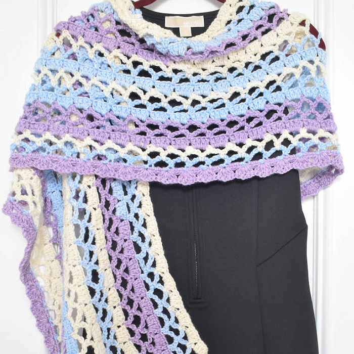 Stormy Isle Wrap Crochet Shawl Pattern Easy Crochet